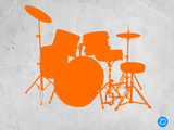 Orange Drum Set Plastic Sign by  NaxArt