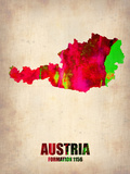Austria Watercolor Poster Plastic Sign by  NaxArt