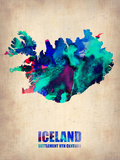 Iceland Watercolor Poster Plastic Sign by  NaxArt