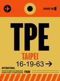 TPE Taipei Luggage Tag 2 Plastic Sign by  NaxArt