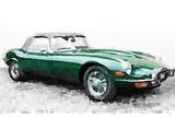 1961 Jaguar E-Type Watercolor Signes en plastique rigide par  NaxArt