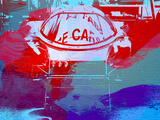 Le Mans Racer During Pit Stop Plastic Sign by  NaxArt