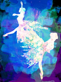 Ballet Watercolor 2 Kunststof bord van Irina March
