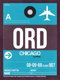ORD Chicago Luggage Tag 1 Plastic Sign by  NaxArt
