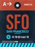 SFO San Francisco Luggage Tag 2 Znaki plastikowe autor NaxArt