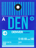 DEN Denver Luggage Tag 2 Plastic Sign by  NaxArt