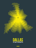 Dallas Radiant Map 1 Plastic Sign by  NaxArt