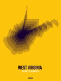 West Virginia Radiant Map 3 Plastic Sign by  NaxArt