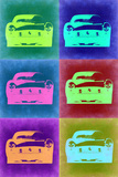 Ferrari Pop Art 2 Plastic Sign by  NaxArt