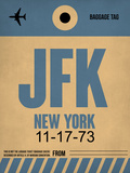 JFK New York Luggage Tag 2 Plastic Sign by  NaxArt