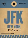 JFK New York Luggage Tag 2 Plastic Sign by  NaxArt