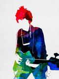 Bob Watercolor Plastskilt av Lora Feldman