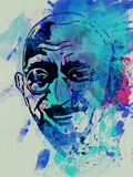 Gandhi Watercolor Plastic Sign by Anna Malkin