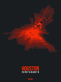 Houston Radiant Map 2 Plastic Sign by  NaxArt