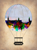 Stockholm Air Balloon Plastic Sign by  NaxArt