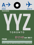 YYZ Toronto Luggage Tag 1 Plastic Sign by  NaxArt