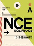 NCE Nice Luggage Tag 2 Plastic Sign by  NaxArt