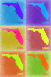 Florida Pop Art Map 2 Plastic Sign by  NaxArt