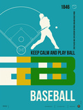 Baseball Poster Plastic Sign by  NaxArt