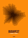 Budapest Radiant Map 4 Plastic Sign by  NaxArt