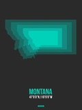 Montana Radiant Map 5 Plastic Sign by  NaxArt