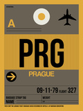 PRG Prague Luggage Tag 1 Plastic Sign by  NaxArt