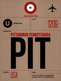 PIT Pittsburgh Luggage Tag 1 Plastic Sign by  NaxArt