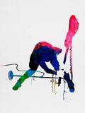 Joe Watercolor Signe en plastique rigide par Lora Feldman