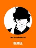 Orange Poster 2 Signe en plastique rigide par Anna Malkin