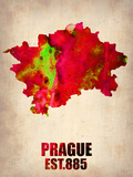 Prague Watercolor Poster Plastic Sign by  NaxArt