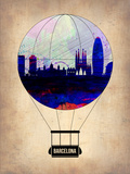 Barcelona Air Balloon Plastic Sign by  NaxArt