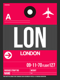 LON London Luggage Tag 2 Plastic Sign by  NaxArt