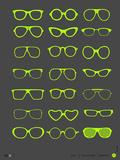Glasses Poster III Znaki plastikowe autor NaxArt