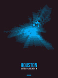 Houston Radiant Map 1 Plastic Sign by  NaxArt