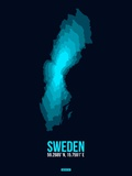 Sweden Radiant Map 2 Plastic Sign by  NaxArt