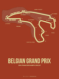 Belgian Grand Prix 2 Plastic Sign by  NaxArt