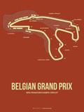 Belgian Grand Prix 2 Plastic Sign by  NaxArt