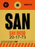 SAN San Diego Luggage Tag 1 Plastic Sign by  NaxArt