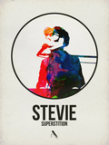 Stevie Watercolor Plastic Sign by David Brodsky