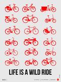 Life is a Wild Ride Poster II Plastikschild von  NaxArt