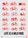 Life is a Wild Ride Poster II Plastic Sign by  NaxArt