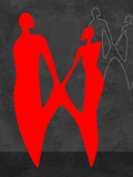 Red Couple 2 Plastic Sign by Felix Podgurski