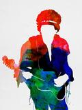 Jimi Watercolor Plastskilt av Lora Feldman