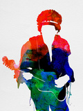 Jimi Watercolor Plastikschild von Lora Feldman