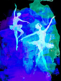 Two White Dancing Ballerinas Plastic Sign by Irina March