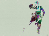 Tango Dancers Watercolor Plastikskilte af NaxArt