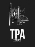 TPA Tampa Airport Black Plastic Sign by  NaxArt