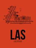 LAS Las Vegas Airport Orange Plastic Sign by  NaxArt