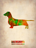 Dachshund Poster 2 Plastic Sign by  NaxArt