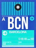 BCN Barcelona Luggage Tag 2 Plastic Sign by  NaxArt